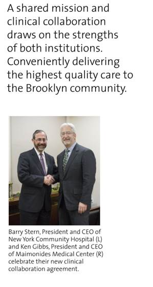 Maimonides partners with NYCH